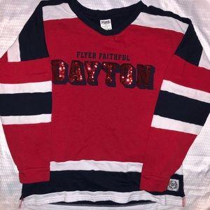 PINK by VS LS Unv of Dayton Sweatshirt Sz S EUC
